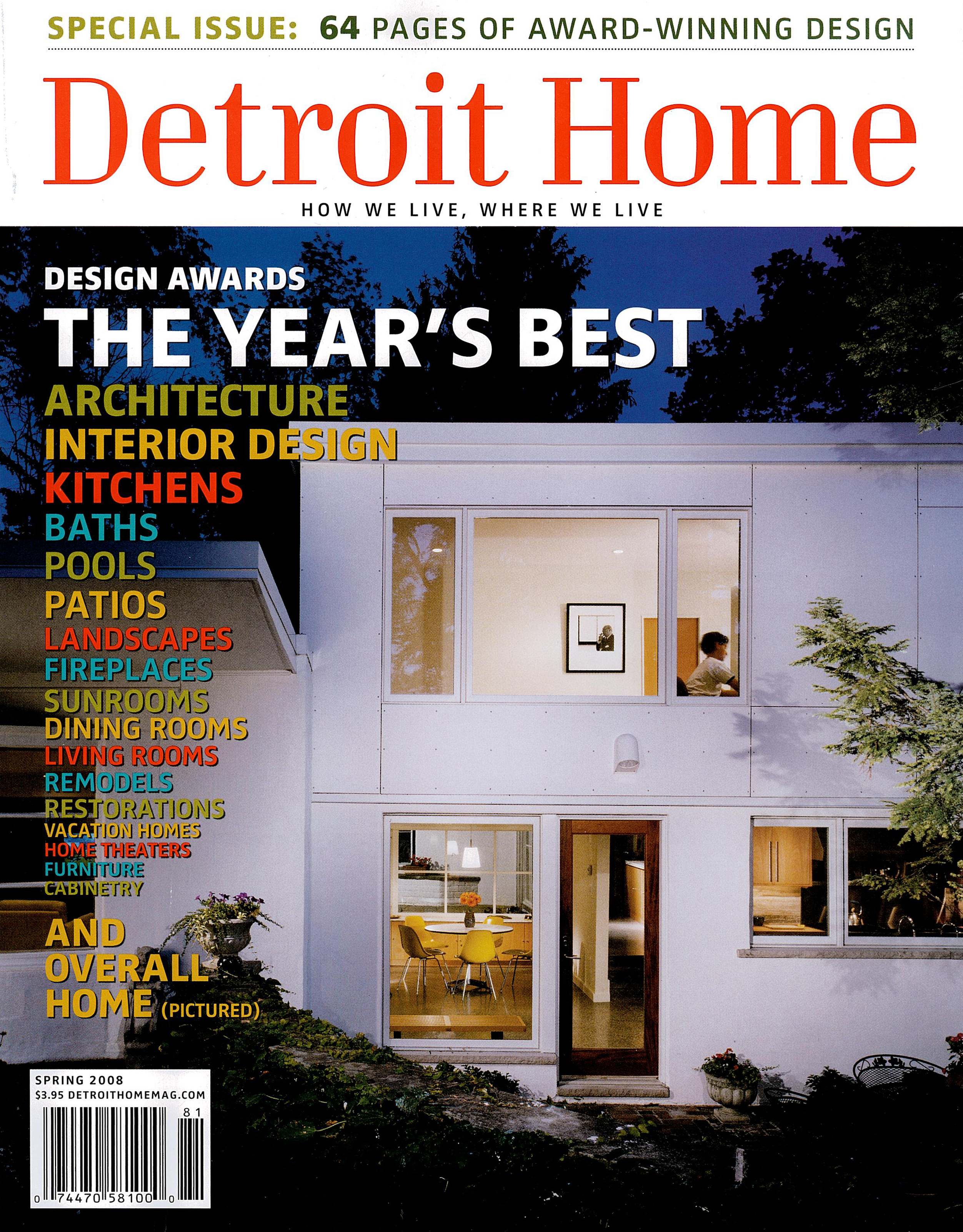 Featured in Detroit Home Magazine: Design Awards