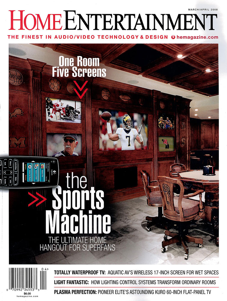 Featured in Home Entertainment: March/April 2008