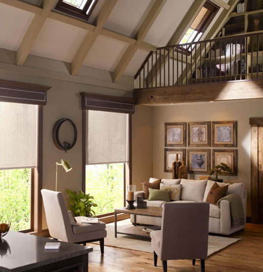 large beautiful home with automated shading