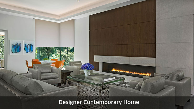 Large integrated living area with fireplace
