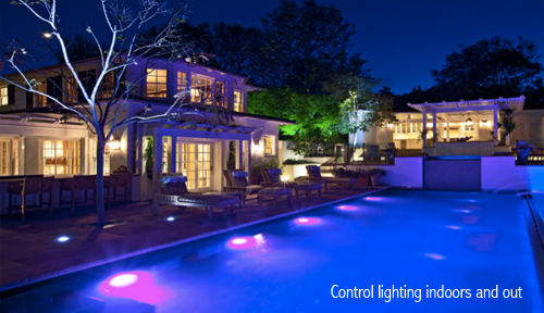 Control Lighting Outdoors and Indoors