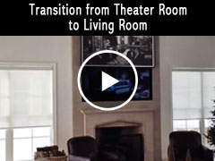 Transition from Theater Room to Living Room