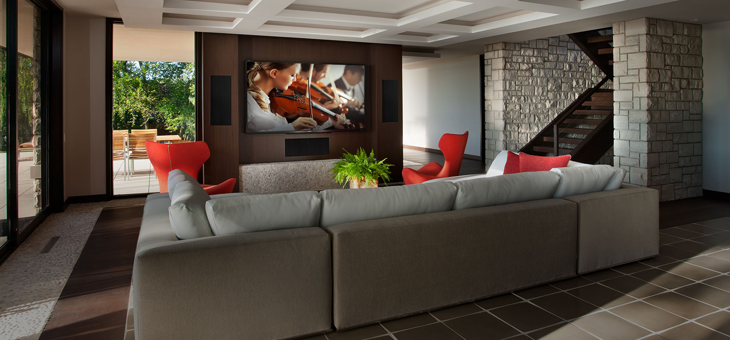 fully integrated media room