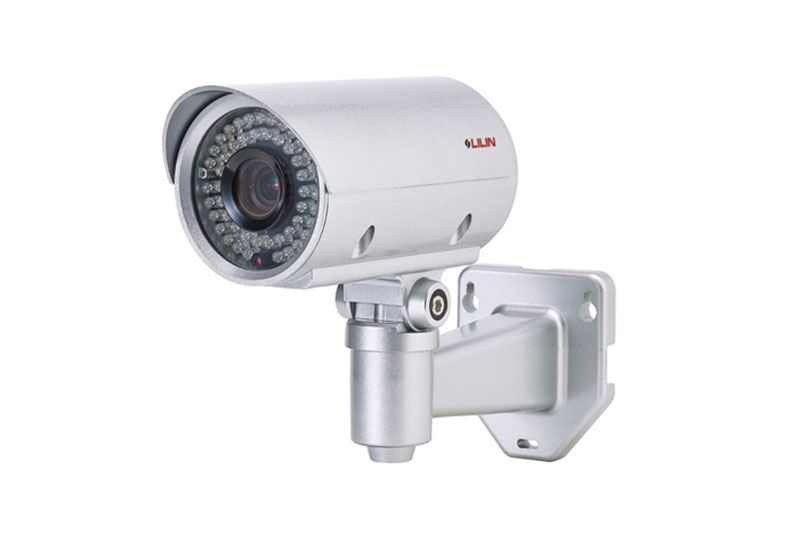 large white mounted lilin security camera