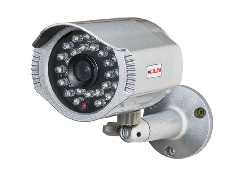 chrome lilin security camera, mounted