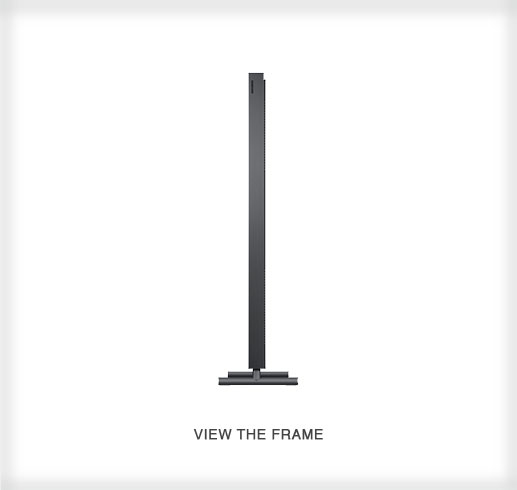 The Frame by Samsung - a 4K UHD TV Side