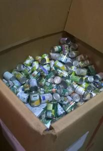 Boxes full of cans
